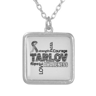 Words...Tarlov Cyst Silver Plated Necklace