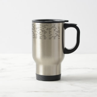 words travel mug