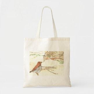 Wordsworth bird tote bag