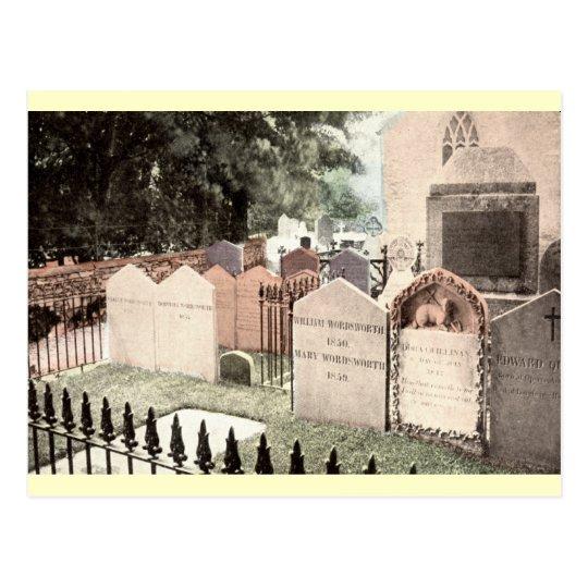 Wordsworth Grave, Westminster Abbey 1910 Vintage Postcard