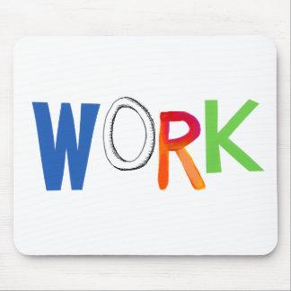 Work business employment job worker art words mouse pad