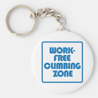 Work Free Climbing Zone Keychain