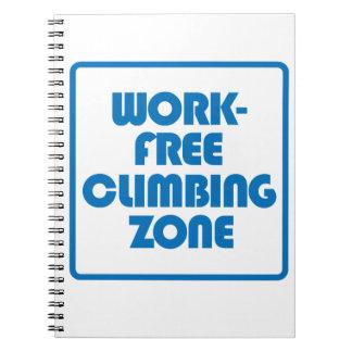 Work Free Climbing Zone Notebook