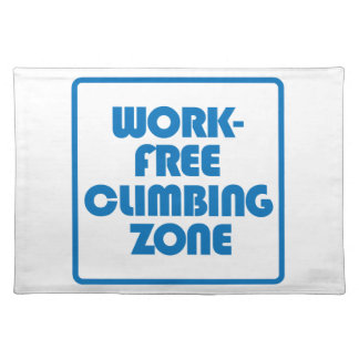 Work Free Climbing Zone Placemat