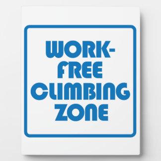 Work Free Climbing Zone Plaque