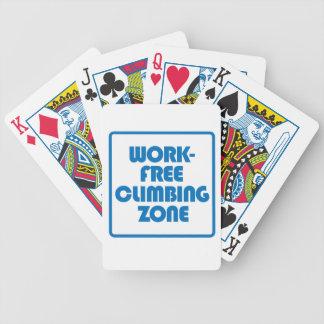 Work Free Climbing Zone Poker Deck