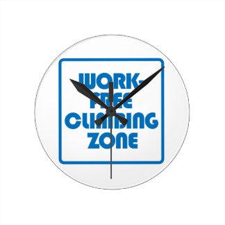 Work Free Climbing Zone Round Clock
