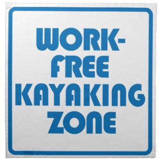 Work Free Kayaking Zone Napkin
