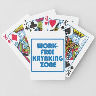 Work Free Kayaking Zone Poker Deck