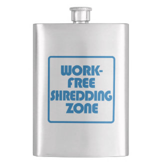 Work Free Shredding Zone Hip Flask
