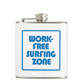 Work Free Surfing Zone Hip Flask