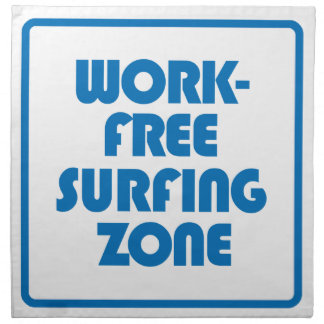 Work Free Surfing Zone Napkin