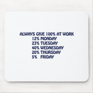 work funny stuff mouse pad