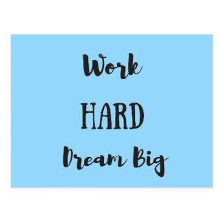 Work Hard Dream Big Postcard