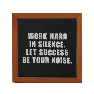 Work Hard In Silence - Let Success Be Your Noise Desk Organizer