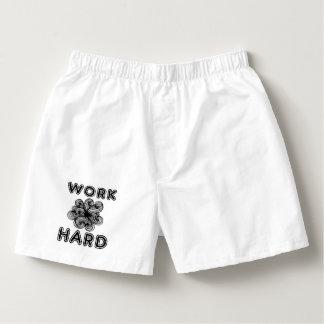 """Work Hard"" Men's Cotton Boxers"