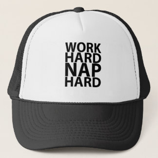 WORK HARD NAP HARD.png Trucker Hat