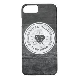 Work hard play hard iPhone 7 case
