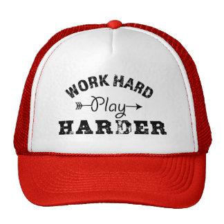 Work Hard Play Harder Trucker Hat