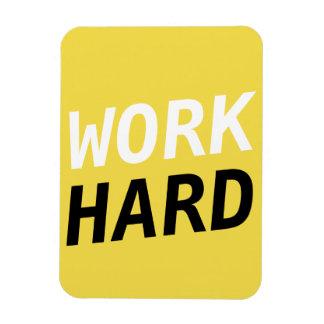 Work Hard Series -  flexi magnet Yellow