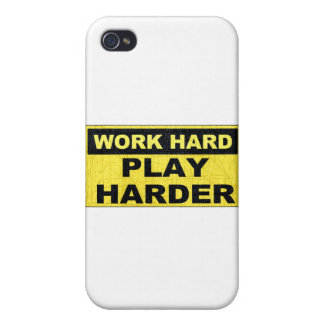 Work Hard Sign.png iPhone 4 Cases