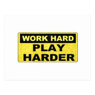 Work Hard Sign.png Postcard