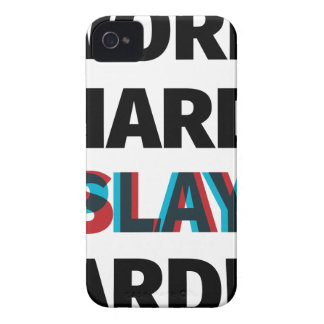 Work Hard Slay Harder iPhone 4 Case-Mate Cases