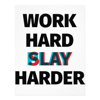 Work Hard Slay Harder Letterhead