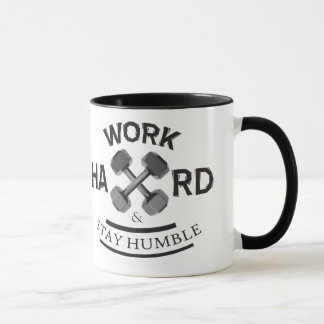 Work Hard Stay Humble - Dumbbell Mug