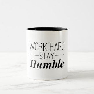 Work Hard Stay Humble Two-Tone Coffee Mug