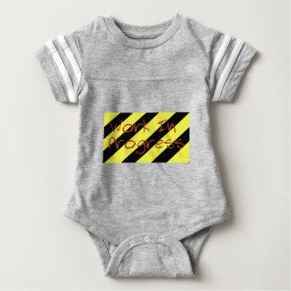 Work in progress baby bodysuit