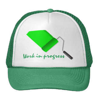 Work In Progress Green Trucker Hat