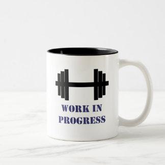 Work In Progress Gym Coffee Mug
