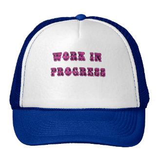 Work in Progress Inspirational Tshirt Trucker Hat
