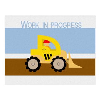 Work in progress postcard
