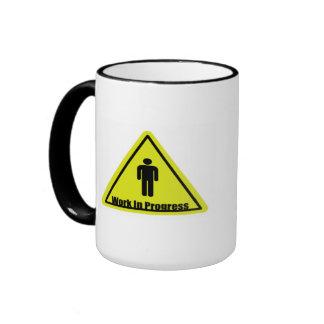 Work in Progress Sign Ringer Coffee Mug