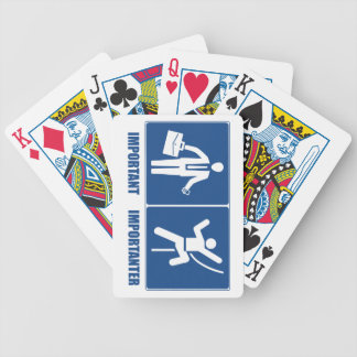 Work Is Important, Climbing Is Importanter Bicycle Playing Cards