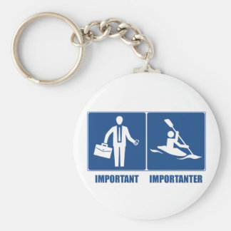 Work Is Important, Kayaking Is Importanter Basic Round Button Keychain