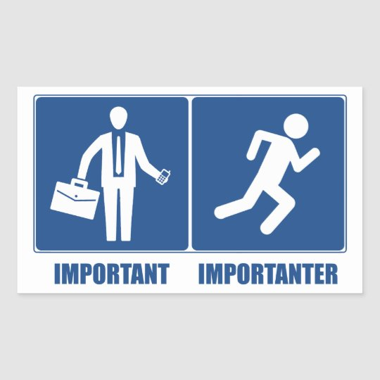 Work Is Important, Running Is Importanter Sticker