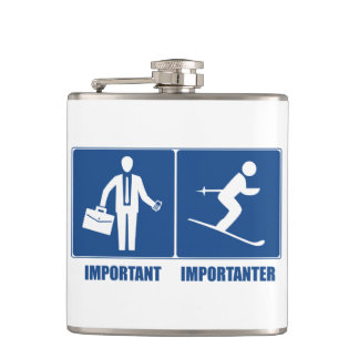 Work Is Important, Skiing Is Importanter Flask