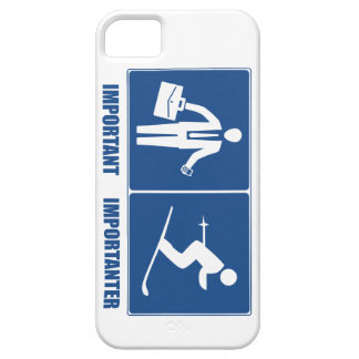 Work Is Important, Skiing Is Importanter iPhone 5 Case