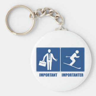 Work Is Important, Skiing Is Importanter Keychain