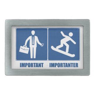 Work Is Important, Snowboarding Is Importanter Belt Buckles
