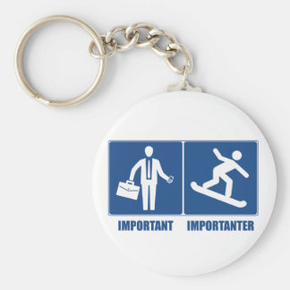 Work Is Important, Snowboarding Is Importanter Keychain