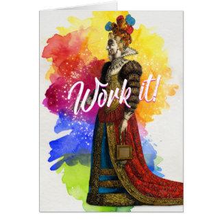 Work It Greeting Card