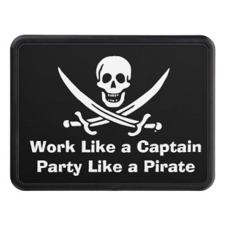 Work like a captain party like a pirate trailer hitch cover