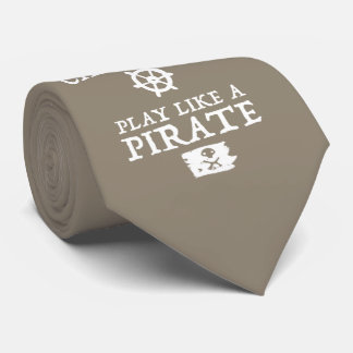 Work Like a Captain, Play Like a Pirate Tan Tie