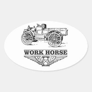 work load truck oval sticker