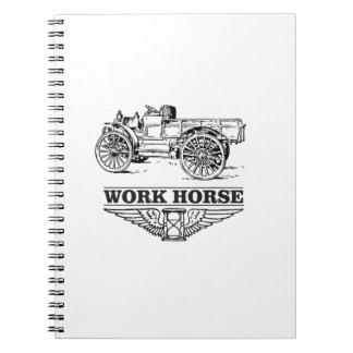 work load truck spiral notebooks
