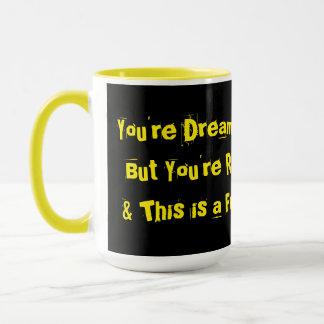 WORK NIGHTMARE COFFEE MUG FUNNY SLEEPING AT WORK